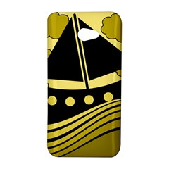 Boat - yellow HTC Butterfly S/HTC 9060 Hardshell Case