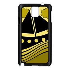 Boat - yellow Samsung Galaxy Note 3 N9005 Case (Black)