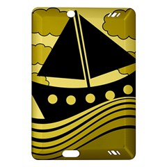 Boat - yellow Amazon Kindle Fire HD (2013) Hardshell Case