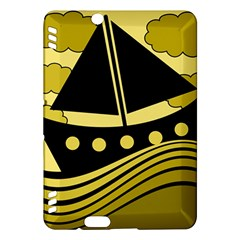 Boat - yellow Kindle Fire HDX Hardshell Case