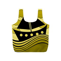 Boat - yellow Full Print Recycle Bags (S)