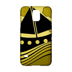 Boat - yellow Samsung Galaxy S5 Hardshell Case