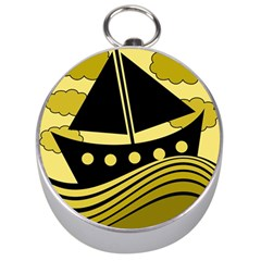 Boat - yellow Silver Compasses