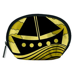Boat - yellow Accessory Pouches (Medium)