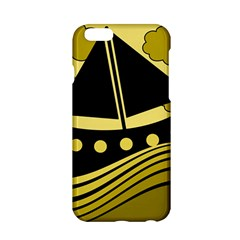 Boat - yellow Apple iPhone 6/6S Hardshell Case