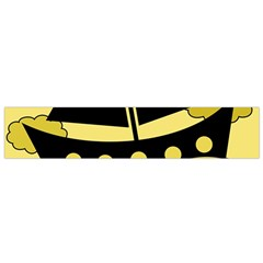 Boat - yellow Flano Scarf (Small)
