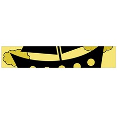 Boat - yellow Flano Scarf (Large)