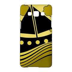 Boat - yellow Samsung Galaxy A5 Hardshell Case
