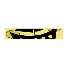 Boat - yellow Flano Scarf (Mini)