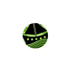 Boat - green 1  Mini Magnets