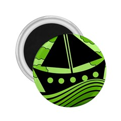 Boat - green 2.25  Magnets