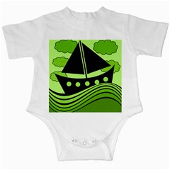 Boat   Green Infant Creepers