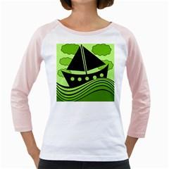Boat   Green Girly Raglans