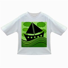 Boat - green Infant/Toddler T-Shirts
