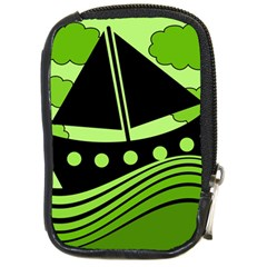Boat - green Compact Camera Cases