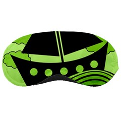 Boat - green Sleeping Masks