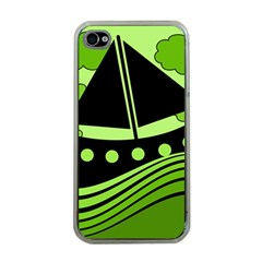 Boat - green Apple iPhone 4 Case (Clear)