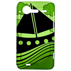 Boat - green HTC Incredible S Hardshell Case