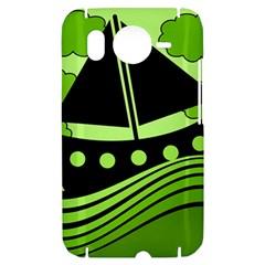 Boat - green HTC Desire HD Hardshell Case