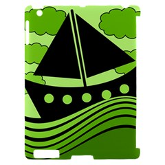 Boat - green Apple iPad 2 Hardshell Case (Compatible with Smart Cover)