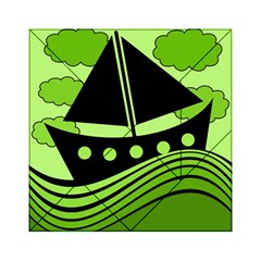 Boat - green Acrylic Tangram Puzzle (6  x 6 )