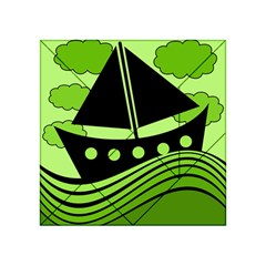 Boat - green Acrylic Tangram Puzzle (4  x 4 )