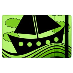 Boat - green Apple iPad 3/4 Flip Case