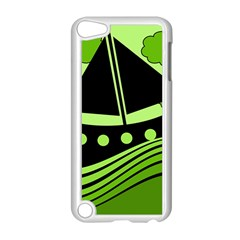 Boat - green Apple iPod Touch 5 Case (White)