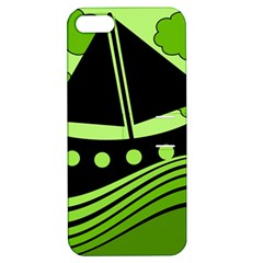Boat - green Apple iPhone 5 Hardshell Case with Stand