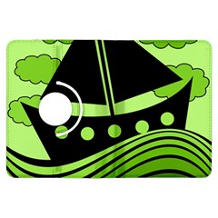 Boat - green Kindle Fire HDX Flip 360 Case