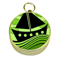 Boat - green Gold Compasses