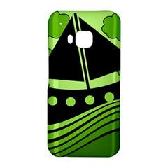 Boat - green HTC One M9 Hardshell Case