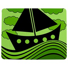Boat - green Jigsaw Puzzle Photo Stand (Rectangular)