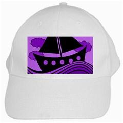 Boat - purple White Cap