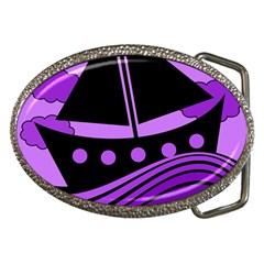 Boat - purple Belt Buckles
