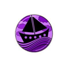 Boat - purple Hat Clip Ball Marker (10 pack)