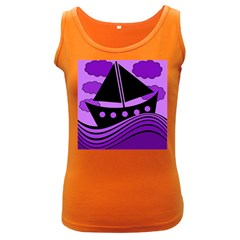 Boat - purple Women s Dark Tank Top
