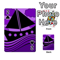 Boat - purple Playing Cards 54 Designs