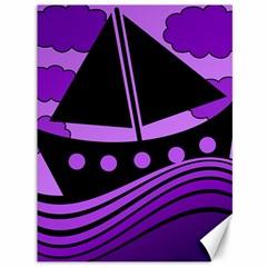 Boat - purple Canvas 36  x 48