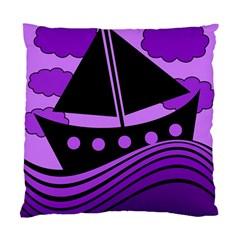 Boat - purple Standard Cushion Case (One Side)