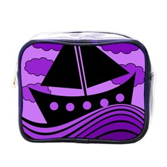 Boat - purple Mini Toiletries Bags