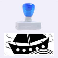 Boat - purple Rubber Stamps (Large)