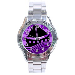 Boat - purple Stainless Steel Analogue Watch