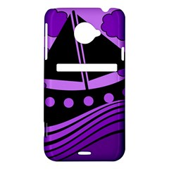 Boat - purple HTC Evo 4G LTE Hardshell Case