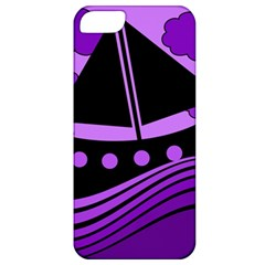 Boat - purple Apple iPhone 5 Classic Hardshell Case