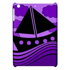 Boat - purple Apple iPad Mini Hardshell Case