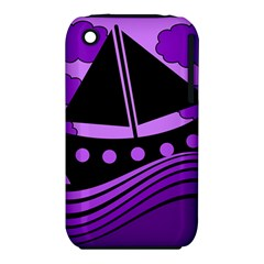 Boat - purple Apple iPhone 3G/3GS Hardshell Case (PC+Silicone)