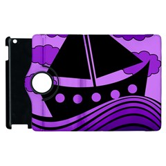 Boat - purple Apple iPad 2 Flip 360 Case