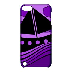 Boat - purple Apple iPod Touch 5 Hardshell Case with Stand