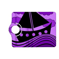 Boat - purple Kindle Fire HD (2013) Flip 360 Case